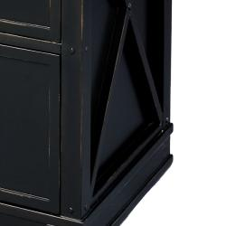 Hand-painted Black Chest with File Drawer Storage