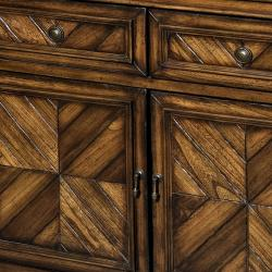 Hand-stained Chestnut Accent Chest - Thumbnail 2