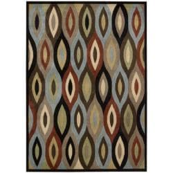 Nourison Monaco Brown Geometric Rug - multi - Thumbnail 0