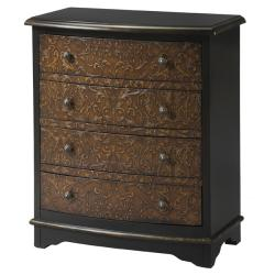 Shop Hand Painted Faux Tooled Leather Accent Chest Free