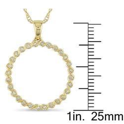 Miadora 10k Yellow Gold 1/6ct TDW Diamond Spiral Wire Necklace - Thumbnail 2