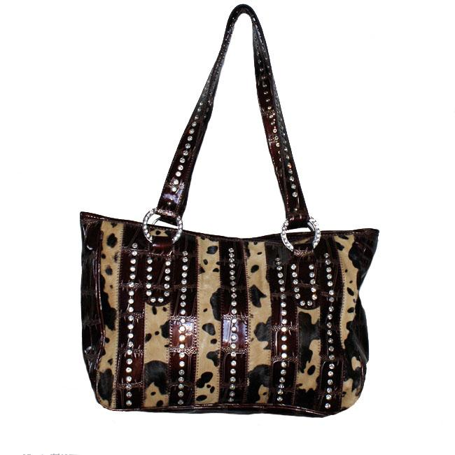 Faux Leather Animal Print Shoulder Bag