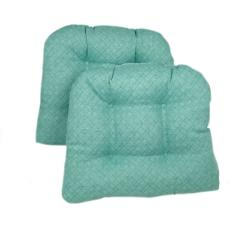 Blue/Green Kitchen/ Dining Chair Pads (Set of 2) - Thumbnail 1