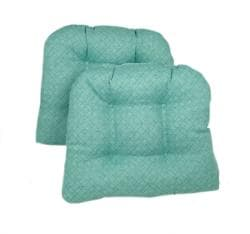 Blue/Green Kitchen/ Dining Chair Pads (Set of 2) - Thumbnail 2