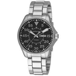 Hamilton Men's 'Khaki King Aviation Pilot' Steel Day Date Watch