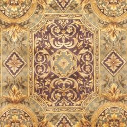 Asian Hand-knotted Royalty Beige Wool Rug (4' x 6') - Thumbnail 2
