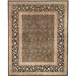 Asian Hand-knotted Zebra Beige Wool Rug (4' x 6')
