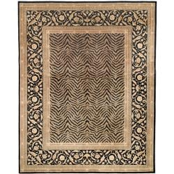 Asian Hand-knotted Zebra Beige Wool Rug (6' x 9')