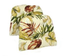 Tropical Print Dining Chair Pads (Set of 2) - Thumbnail 1