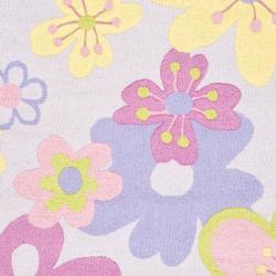 Safavieh Handmade Children's Daisies Violet New Zealand Wool Rug (4' x 6') - Thumbnail 2