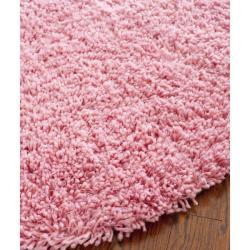 Safavieh Classic Ultra Handmade Pink Shag Rug (6' Round)