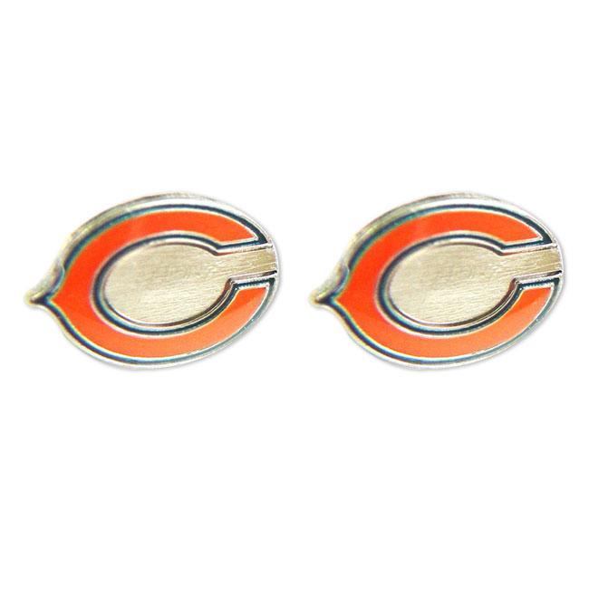 Chicago Bears Post Stud Logo Earring Set