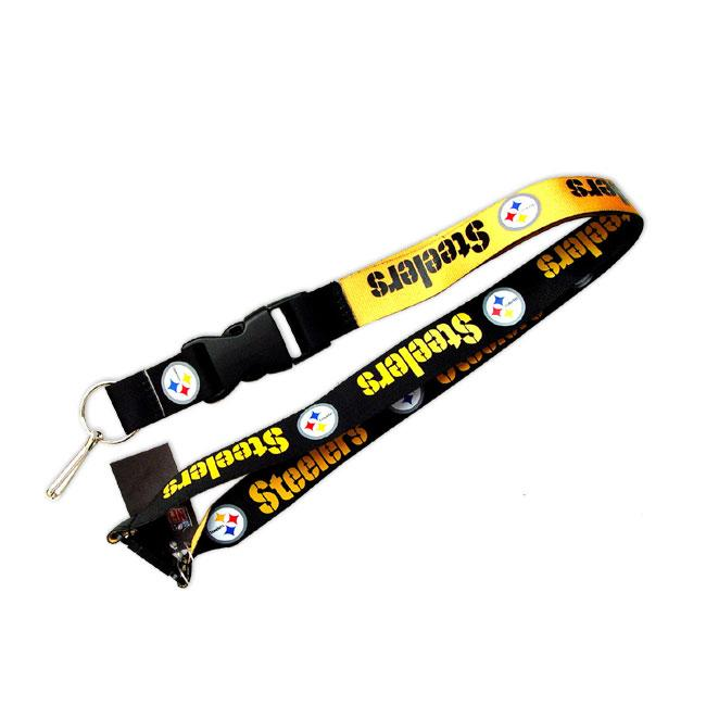 Pittsburgh Steelers Reversible Clip Lanyard Keychain Id Ticket Holder
