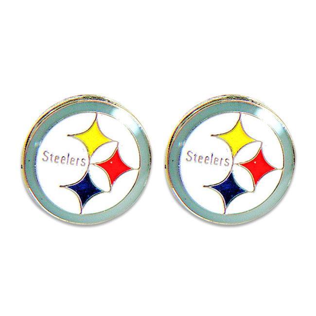 Pittsburgh Steelers Post Stud Logo Earring Set