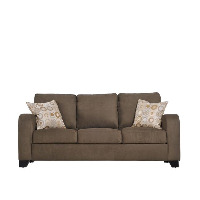 Shop Fendia Modern Dark Moss Green Microfiber Twill Sofa