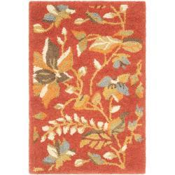 Safavieh Handmade Blossom Botanical Rust Wool Rug (2' x 3')