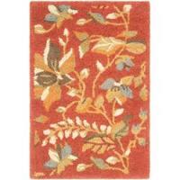 Safavieh Handmade Blossom Botanical Rust Wool Rug - 2' x 3'