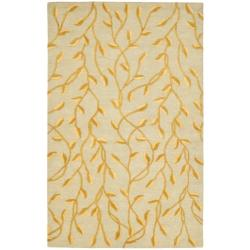 Safavieh Handmade Rodeo Drive Vines Light Blue/ Gold Wool Rug - 7'6 x 9'6 - Thumbnail 0