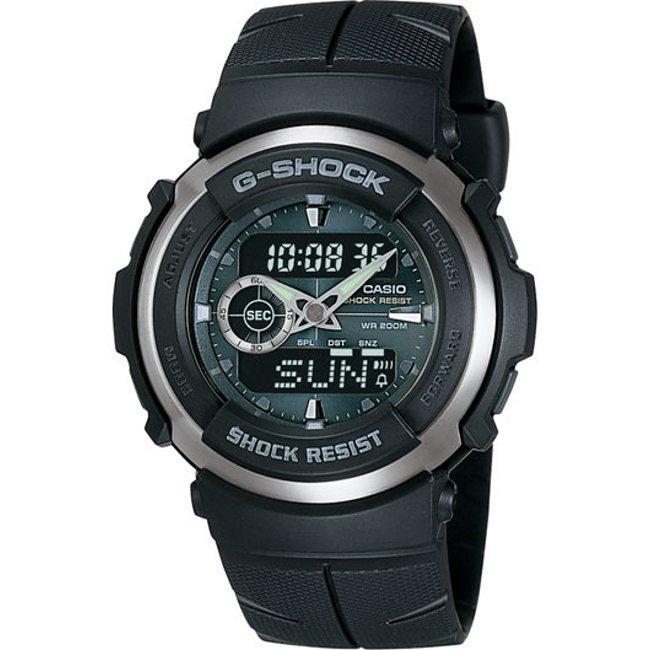 Casio Men's G-Shock Black Street Rider Analog/ Digital Watch, Size One Size Fits All (Metal)