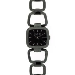 Gucci Women's 125 Stainless Steel Black Dial Watch