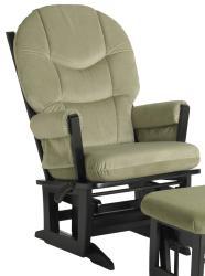 Dutailier Modern Sage Green Microfiber Glider Chair