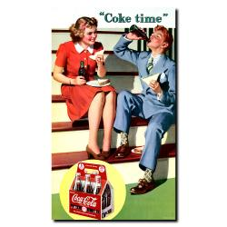 'Coke Time' Gallery-wrapped Canvas Art