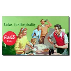 'Coke for Hospitality'  Gallery-wrapped Canvas Art