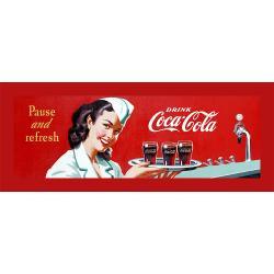 'Coke Waitress' Stretched Canvas Print