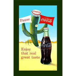 'Coke Pause Cactus' Stretched Canvas Print