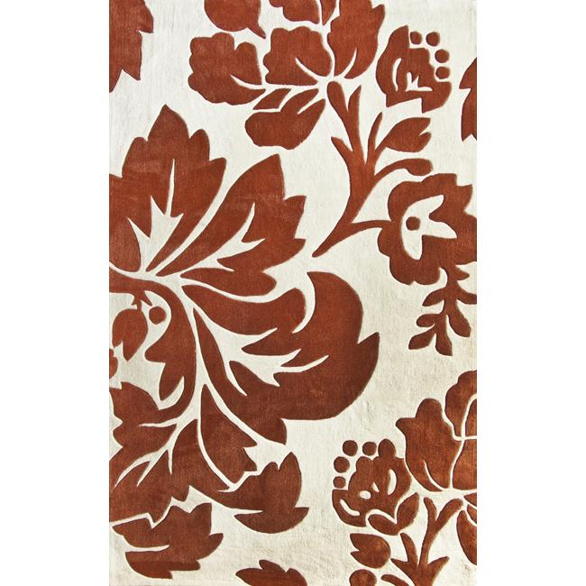 nuLOOM Handmade Pino Rust Floral Fantasy Rug (5' x 8')