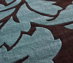 nuLOOM Handmade Pino Brown Floral Fantasy Rug (7'6 x 9'6)