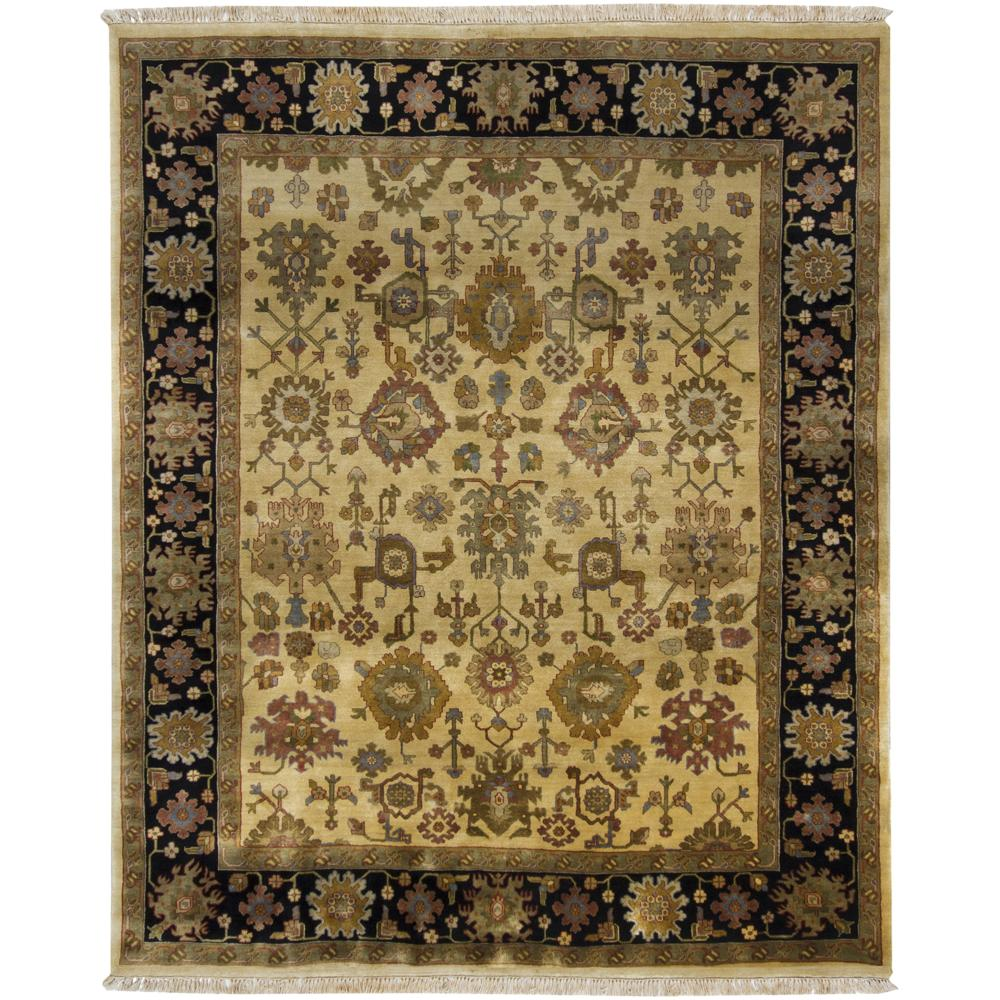 Hand-knotted Mandara Gold New Zealand Wool Rug (8' x 10')