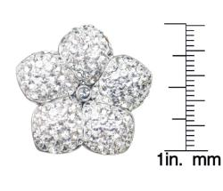 Gioelli Sterling Silver White Crystal Flower Ring
