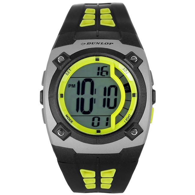 a93fa0afb Shop Dunlop Men's Digital Sport Black and Yellow Watch - Free Shipping On  Orders Over $45 - Overstock - 5677649