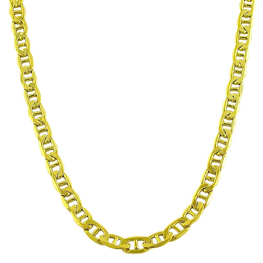 fremada 10k yellow gold mariner chain necklace free