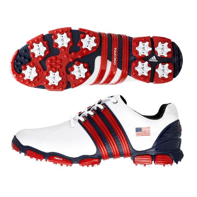 8fa7a92455c4 Shop Adidas Tour 360 4.0 USA Flag Limited Edition Golf Shoes - Free  Shipping Today - Overstock - 5679423