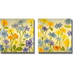 Randy Hibberd 'Bloom I and II' 2-piece Canvas Art Set