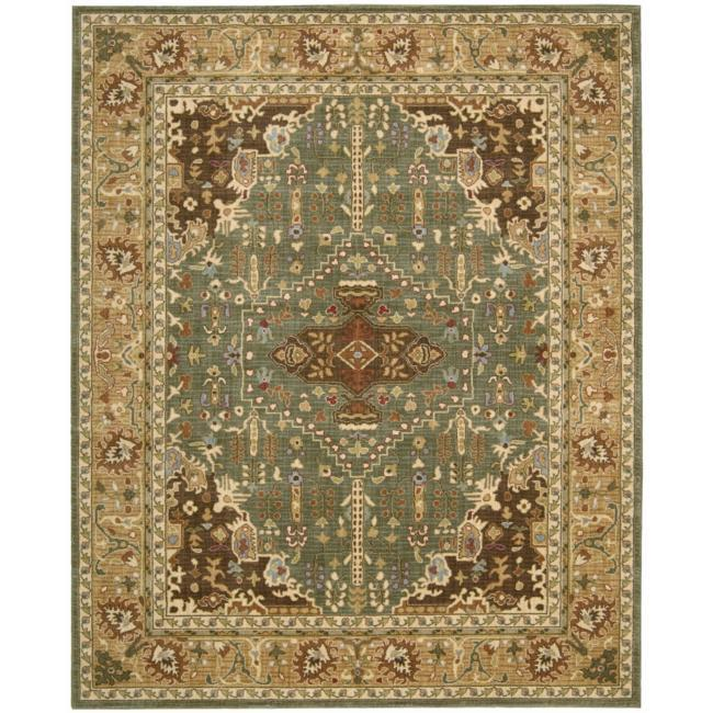 Nourison Antiquities Green Southwestern Rug (5'3 x 7'5) - Thumbnail 0