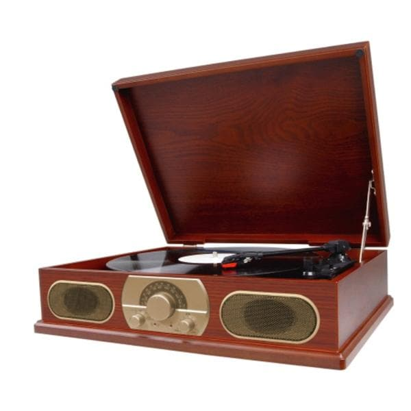 Studebaker Sb6052 Wooden Turntable/ Am/Fm Radio/ Cassette Player by Spectra