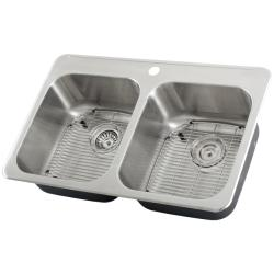Ticor Stainless Steel 18-gauge Overmount Kitchen Sink with Air Switch