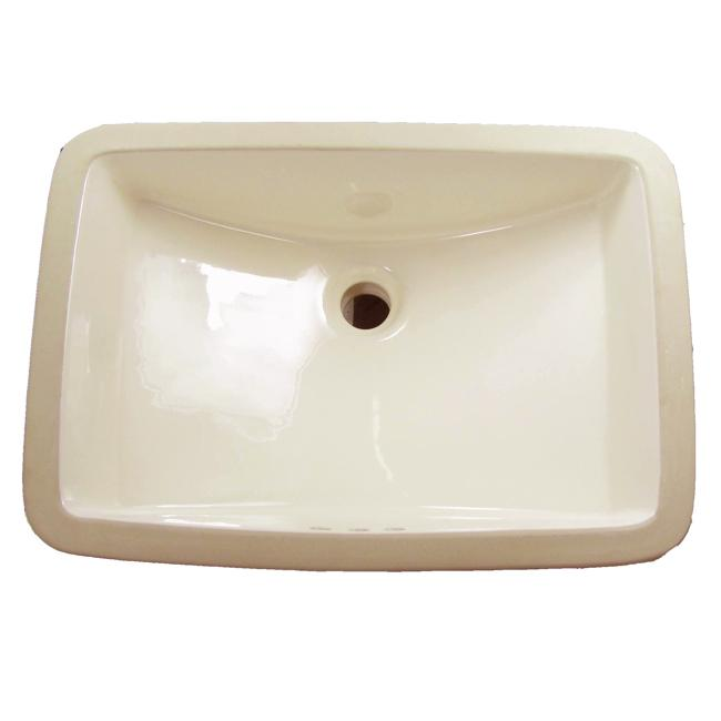 Denovo large rectangular bone undermount porcelain bathroom sink free shipping today for Large undermount bathroom sinks