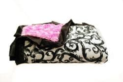 Minky Couture Pink Brooke Blanket - Thumbnail 1