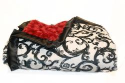 Minky Couture Red Brooke Blanket - Thumbnail 2