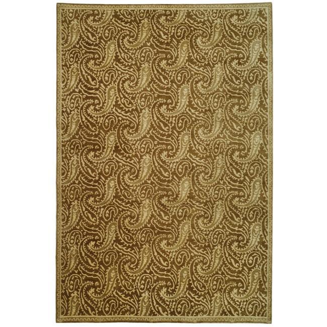 Handmade Thomas O'Brien Margo Slate Wool/ Silk Rug - 9' x 12'
