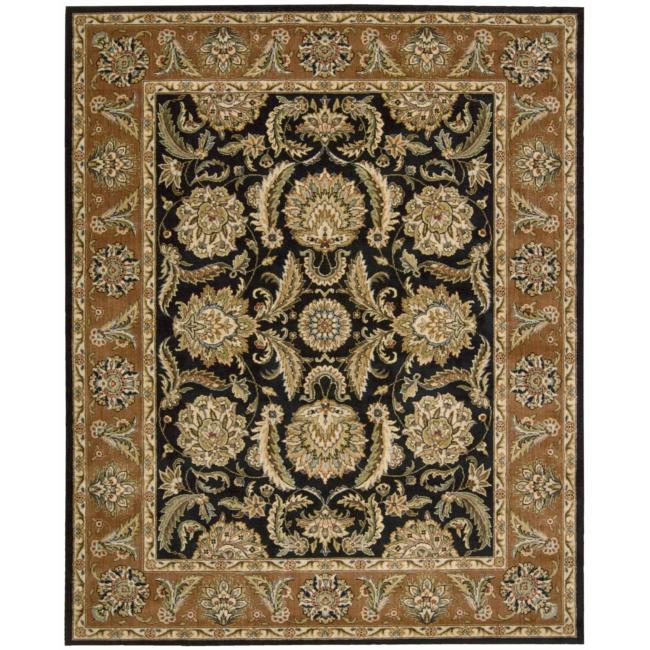 Nourison Antiquities Black Floral Rug