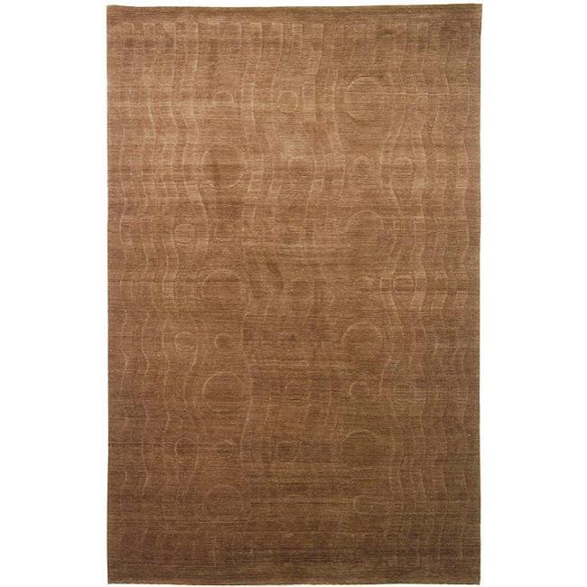 Handmade Thomas O'Brien Allium Coco Wool Rug - 9' x 12'