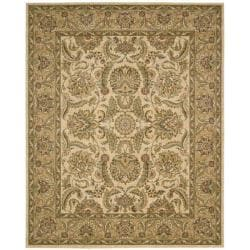 Nourison Antiquities Ivory/Gold Floral Rug (7'9 x 9'9)