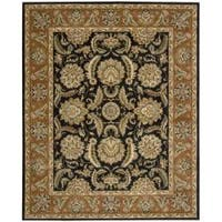 Nourison Antiquities Black Floral Rug - 7'9 x 9'9