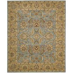 Nourison Antiquities Blue Floral Rug - 7'9 x 9'9 - Thumbnail 0