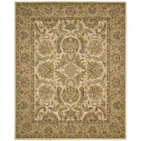 Nourison Antiquities Ivory/Gold Floral Rug (3'6 x 5'6)